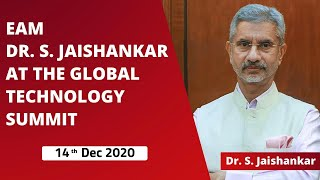 EAM Dr S. Jaishankar at the Global Technology Summit (14th December 2020)