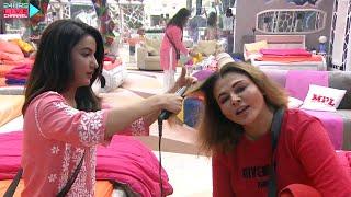 Bigg Boss 14 Live Feed: Jasmin Aur Rakhi Me Ho Gayi Sulah, Jasmin Ne Kiye Rakhi Ki Hair Style
