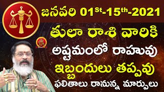 Tula Rasi January 01st - 15th 2021 | Rasi Phalalu Telugu | Mantha Suryanarayana Sharma | Libra