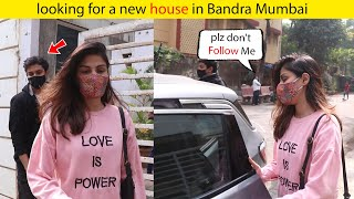 Love is power! Rhea Chakraborty SEEN months after release from JAIL looking for a new house