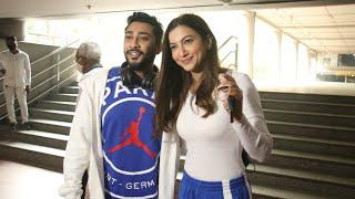 Gauahar Khan & Husband Zaid Darbar Spotted At Mumbai Airport