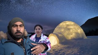 Night Stay In Igloo With Mom ???? -10degree