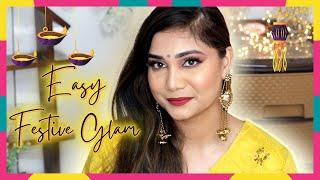 Diwali/Festive Makeup Look   Diwali Makeup with Purplle.com Makeup   Nidhi Katiyar