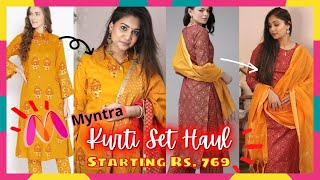 Myntra Sale Haul / Kurti Sets Under Rs. 1000 Casual & Party Wear Kurti Sets/ Nidhi Katiyar