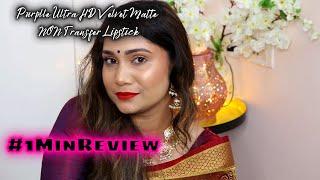 Purplle Ultra HD Velvet Matte Lipstick Review #Shorts Nidhi Katiyar