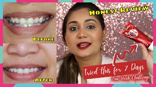 I tried a teeth whitening toothpaste, and here's my honest review / Nidhi Katiyar