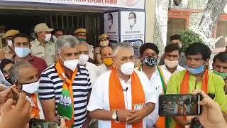 राजस्थान में बढ़ते अपराधों पर भाजपा पाली द्वारा सांसद पीपी चौधरी के नेतृत्व में कलेक्टर को ज्ञापन