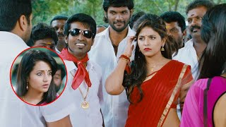 Anjali Trisha Latest Telugu Full Movie Part 10   Naari Naari Naduma Murari   Jayam Ravi   Soori