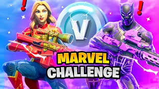 Fortnite Boss Black Panther vs Boss Captain Marvel Challenge