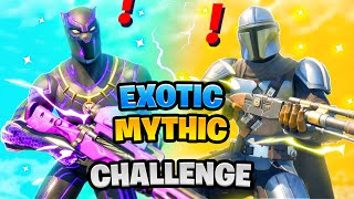 Fortnite Mythic Weapon vs Exotic Weapons Boss Challenge