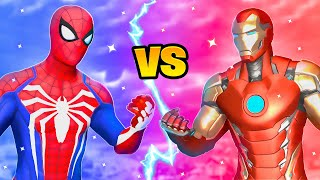 Fortnite Spiderman vs Iron Man Boss Marvel Challenge