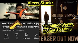 KGF Chapter 2 Teaser Got 1.3 Million Views In Just 10 Minutes, Big Record For A Teaser, Views Stuck