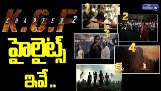 KGF Chapter2 Teaser Highlights   Yash   Sanjay Dutt   Prashanth Neel   Top Telugu TV