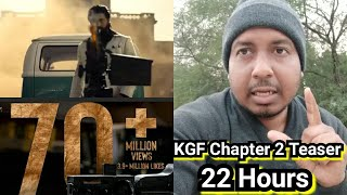 KGF Chapter 2 Teaser Crosses 70 Million Views In 22 Hours,Set To Break 2Point0Teaser Lifetime Record