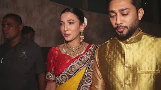 Gauahar Khan & Zaid Darbar At There Friends Wedding In Andheri