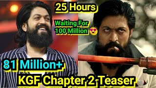 KGF Chapter 2 Teaser Crosses 81 Million Plus Views In Just 25 Hours,Journey To 100 Million Has Start