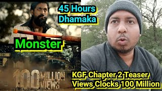 KGF Chapter 2 Teaser Crosses 100 Million Views In Just 45 Hours, Becomes World's Fastest