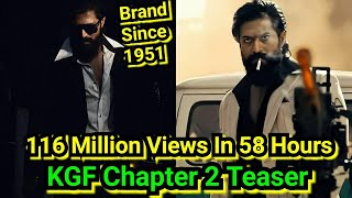 KGF Chapter 2 Teaser Crosses 116 Million Views In Just 58 Hours, 6 Million Likes Soon