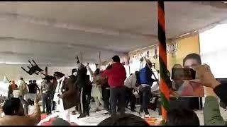 करनाल बीजेपी रैली मैं किसानों ने किया जमकर विरोध मंच को किया तहस नहस।