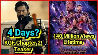 Will KGF Chapter 2 Break Avengers Endgame Trailer Record In 4 Days?