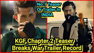 KGFChapter2Teaser Breaks WARTrailer Views Record In 75Hrs,Become Most Viewed Teaser/Trailer In India