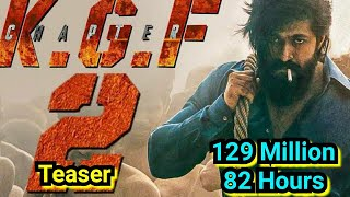 KGF Chapter 2 Teaser Crosses 129 Million Views In 82 Hours, All Set To Cross 130 Million Views