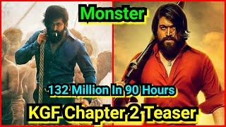 KGF Chapter 2 Teaser Crosses 132 Million Views In A Record Time Of 90 Hours