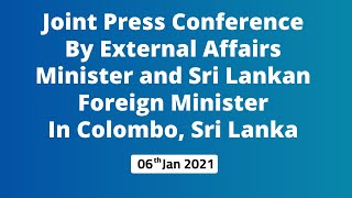 Joint Press Conference by External Affairs Minister and Sri Lankan Foreign Minister (Colombo)