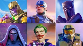 All Fortnite Crossover Trailers, Cinematic, Shorts & Cutscenes Movie (Seasons 1-15) Marvel
