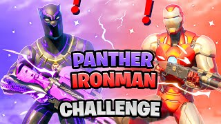 Fortnite Black Panther Exotic Weapons vs Iron Man Mythic Weapon Boss Marvel Challenge