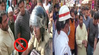Mohd Ghouse Ne Police Officers Ko Roka | Lad Bazar Charminar Ka Kiya Daura |@Sach News