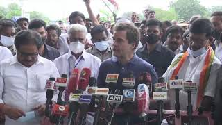 Shri Rahul Gandhi addresses the media in Tamil Nadu