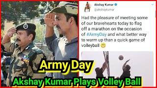 Akshay Kumar Plays Volley Ball With Army Men On Army Day 2021