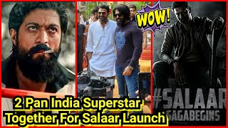 TWO Pan India SuperstarS Together For Salaar LAUNCH in Hyderabad