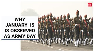 Why India observes January 15 as Army Day | Economic Times