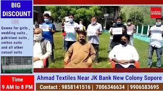MGNREGA Employees Of Subdivision karnah Sit on Pen down Strike demand Regularisation