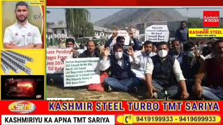 Casual Labours Union of Tourism Department Protest outside Tourism office at TRC Srinagar.