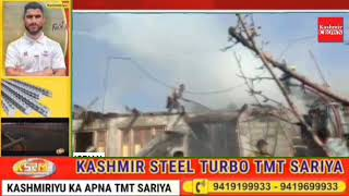Three Houses Gutted in Shopian fire Incident.
