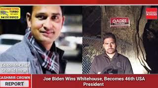 #BreakingNews: Joe Biden Wins Whitehouse, Becomes 46th USA President.