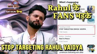 Breaking Rahul Vaidya Ke Fans Bhadak Gaye, RKVians Ka Bada Trend Stop Targeting Rahul Vaidya