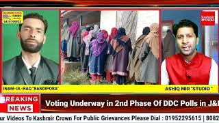 Voting Underway in 2nd Phase Of DDC Polls in J&K : live Update