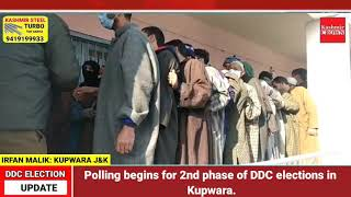Polling begins for 2nd phase of DDC elections in Kupwara.