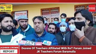 Dozens Of Teachers Affiliated With ReT Forum Joined JK Teachers Forum Baramulla At Chandoosa