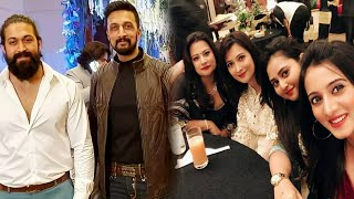 Yash and Kiccha Sudeep at Ramesh Aravind daughter reception | Radhika Pandit | Amulya