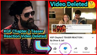 Dhruv Rathee Finally Deleted KGF Chapter 2 Teaser Reaction Video, Here's Why?