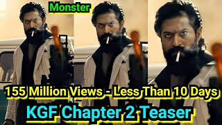 KGFChapter2 Teaser Crosses 155 Million Views In Less Than 10Days, KGF Craze Continues,Trending Stops
