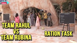 Bigg Boss 14 Live Feed: Team Rahul Vs Team Rubina Me Kaun Kaun? | Ration Task