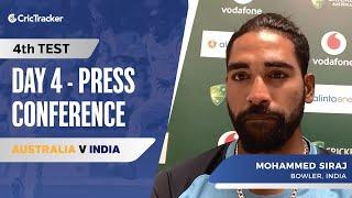 Cracks on Gabba strip will play on batsman's mind: M. Siraj, Press Conference, AUS vs IND 4th Test