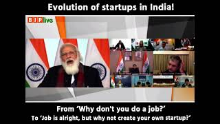 'Why not a startup over a job?' - PM Modi's remarks on evolution of startups in India!