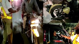 Traffic Police Conduct Special Drive Checking Vehicles | Nampally Haj House |@Sach News